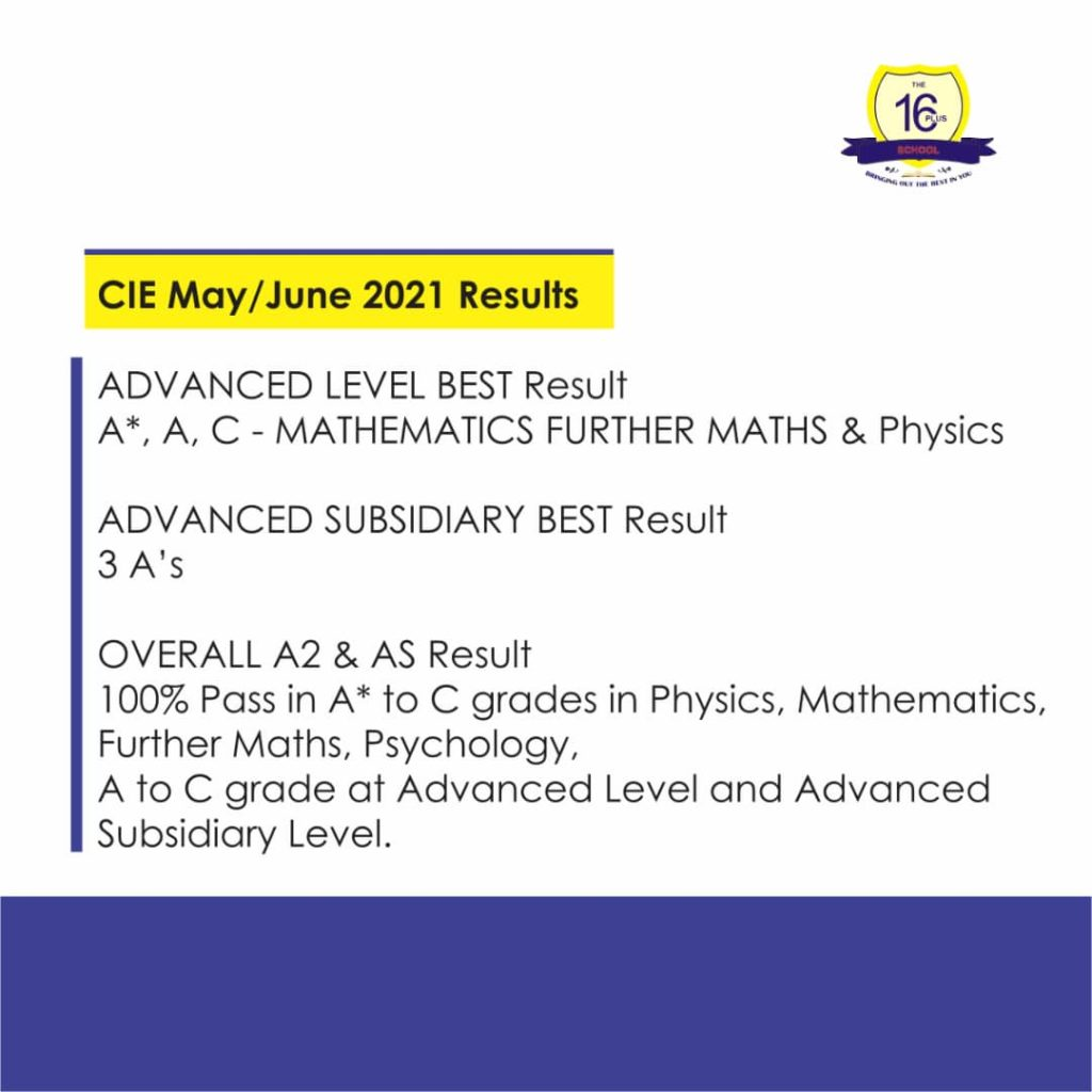 CIE May/June 2021 Results